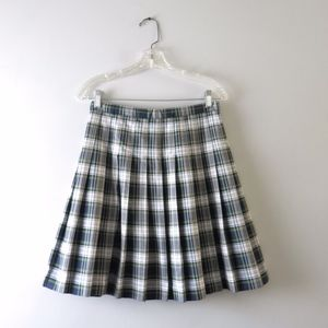 Lands End Tartan Plaid Pleated School Girl Skirt